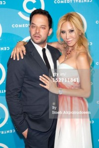 Actors Nick Kroll and Tess Broussard @ the 2012 Primetime Emmys Comedy Central Party
