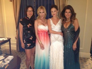 Us girls getting ready to go to the emmys2012