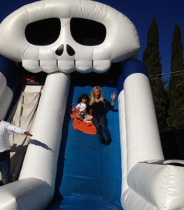On the Halloween Slide