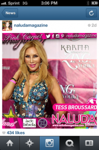 I had to screen capture this instagram shot of me in Naluda Magazine, a lifestyle mag. Thankyou guys and to all my fans!