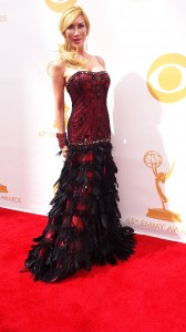 Tess Broussard on the Red Carpet at the 2013 Primetime Emmy Red Carpet