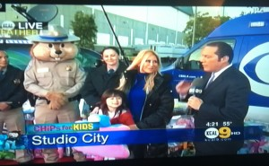 With my daughter Ava talking about the importance of helping out and giving at #kcal9abc2 news