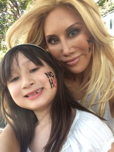 Tess Broussard and daugher Ava at NOH8 Celebrity Photo Shoot