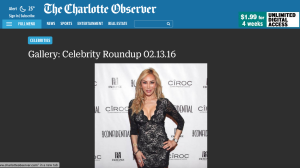 Charlotte Observer-2-13-16 Celebrity Roundup features Tess Broussard for Grammy2016 PreEvent pg.49
